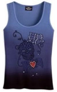 TANK-S/L WITH SKULL GRAPHIC,BL