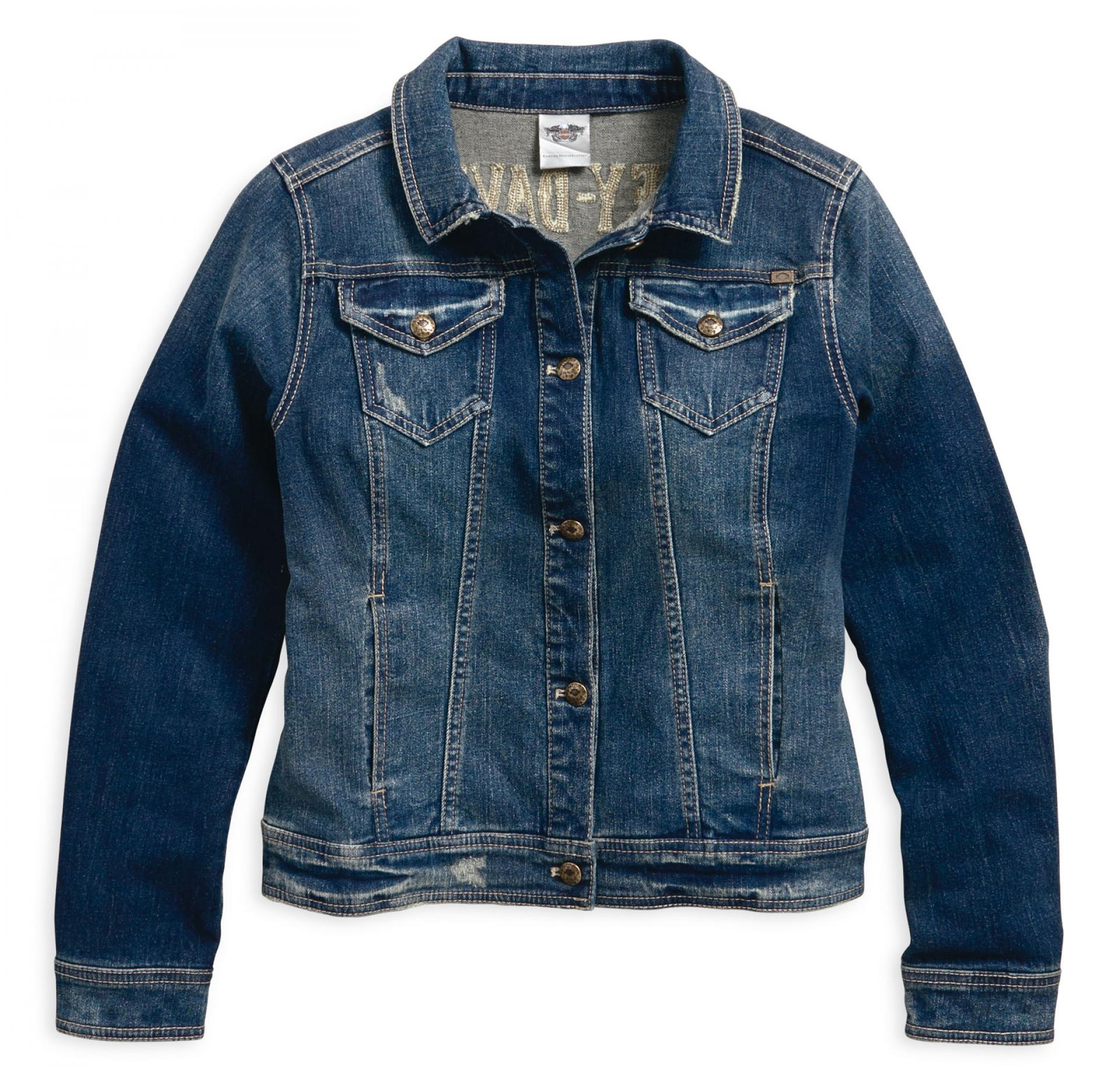 JACKET-DENIM,STUD/RHINESTONE,B