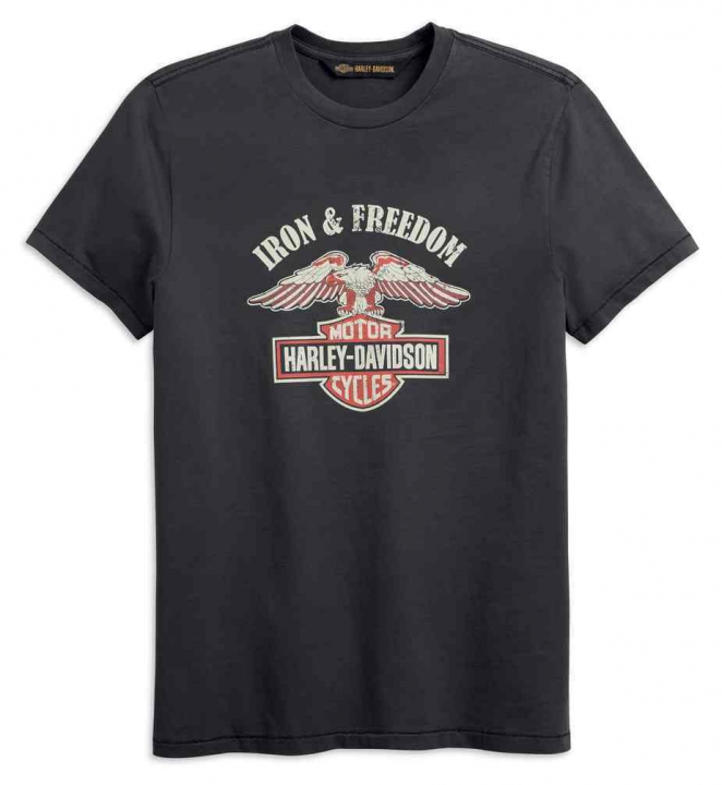 TEE-IRON & FREEDOM,S/S,KNT,GRY