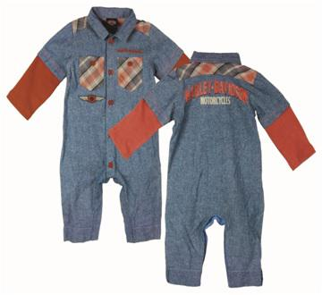 BOYS DENIM CHAMBREY COVERALL